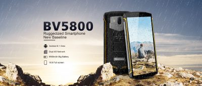 Blackview  BV5800, 16 GB, Geltona - bekredito.lt